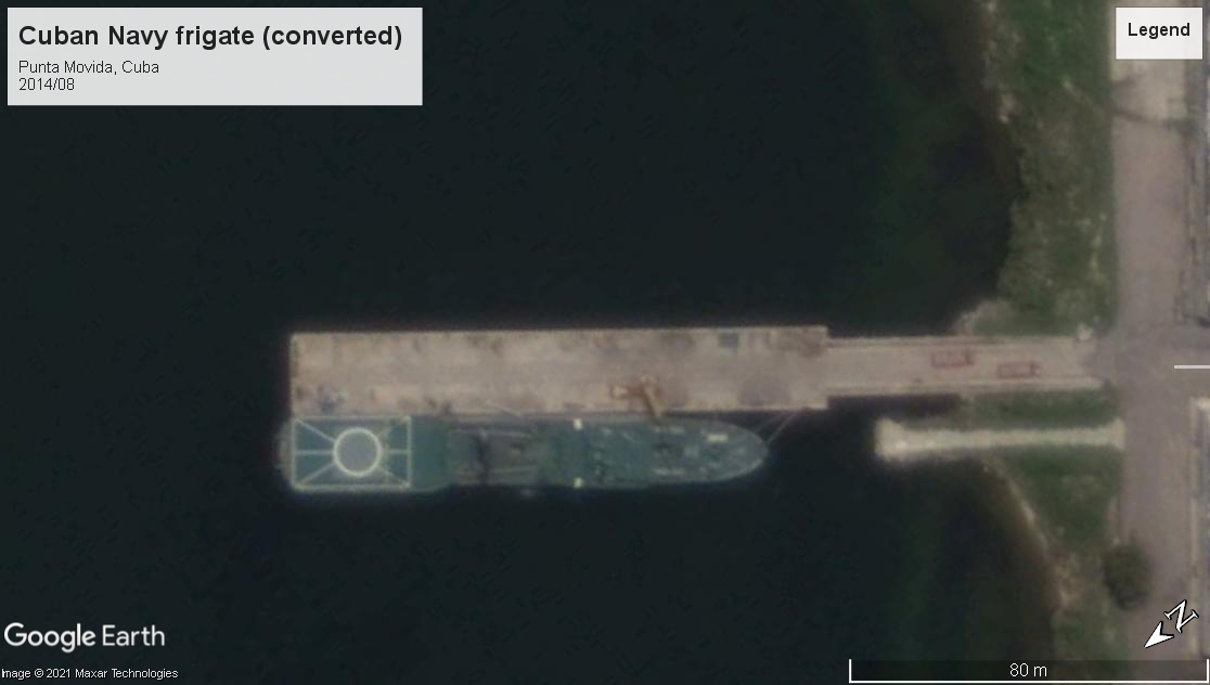 Cuban Navy frigate Punta Movida 2014