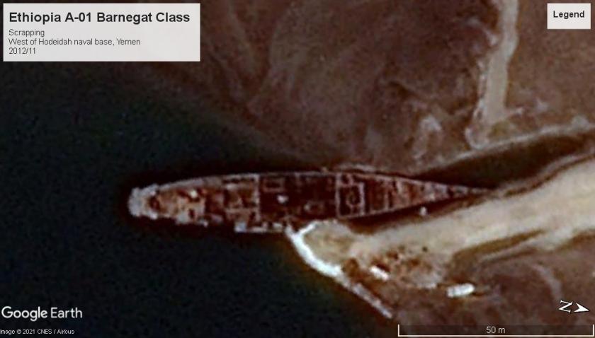 Ethiopia A-01 Barnegat Class scrap Yemen 2012