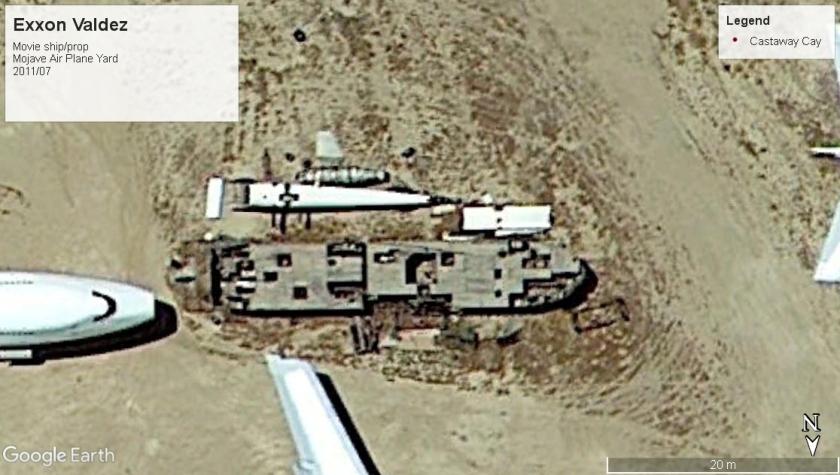 Exxon Valdez movie prop Mojave plane yard 2011