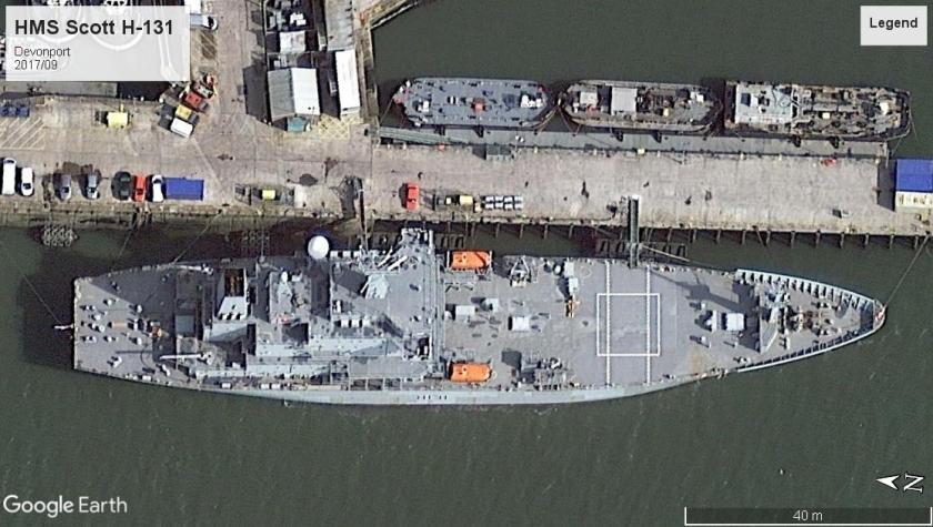 HMS Scott H-131 Devonport 2017