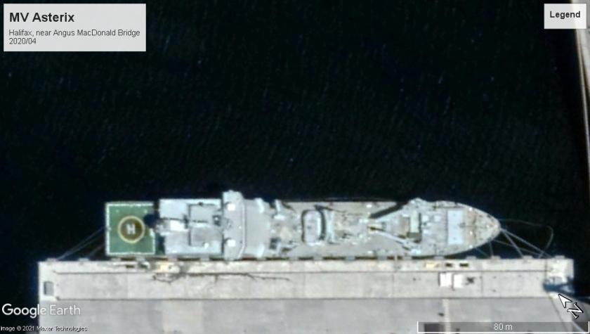 MV Asterix RCN supply 2020 Halifax