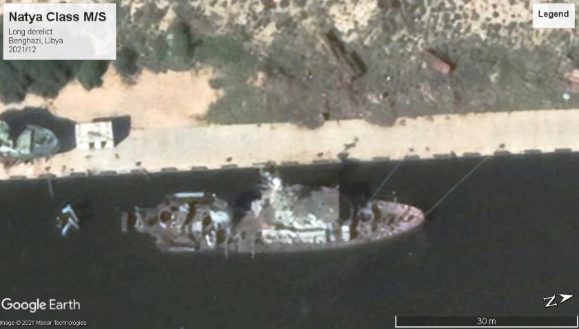 Natya derelict MS Benghazi 2021