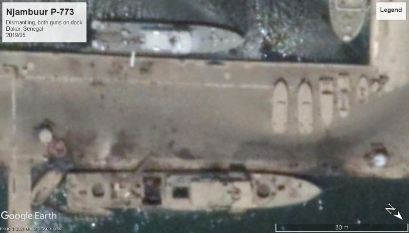 Njambuur P-773 scrapping Dakar Senegal 2019