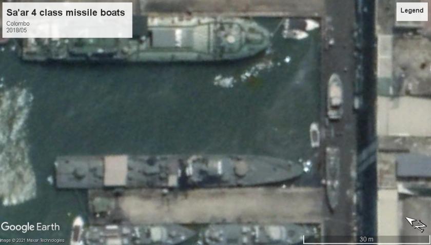 Sa'ar 4 class missile boats Colombo Sri Lanka 2018