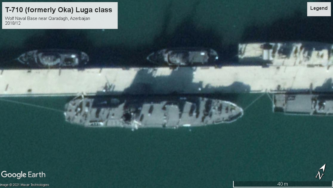 T-710 Luga class training ship Azerbaijan 2018