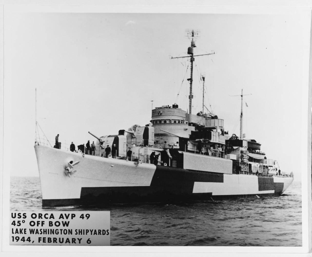 USS Orca AVP-49 1944 19-N-61647