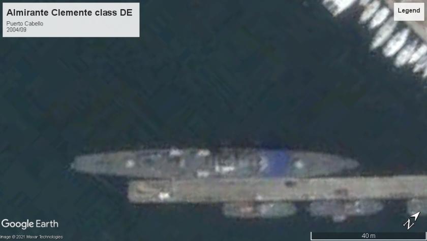 Almirante Clemente class DE Puerto Cabello 2004