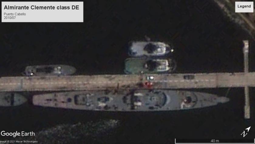 Almirante Clemente class DE Puerto Cabello 2010