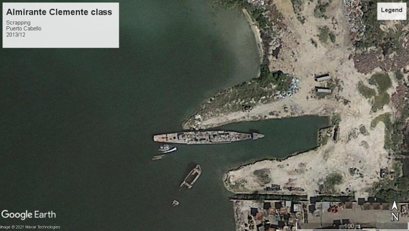Almirante Clemente class DE Puerto Cabello scrap 2013