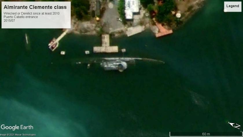 Almirante Clemente class DE Puerto Cabello wreck 2015