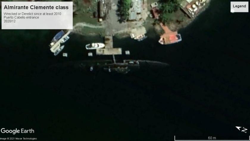 Almirante Clemente class DE Puerto Cabello wreck 2020