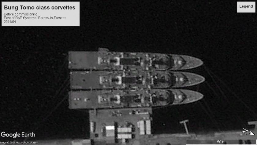 Bung tomo corvettes Barrow-in-Furness UK 2014