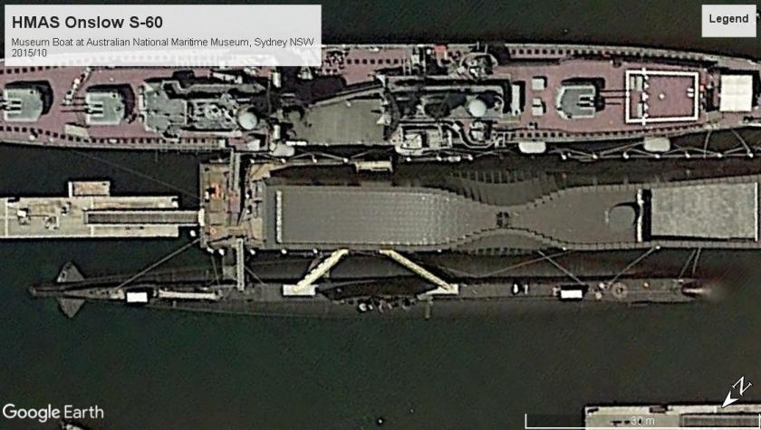 HMAS Onslow S-60 Museum boat Sydney 2015