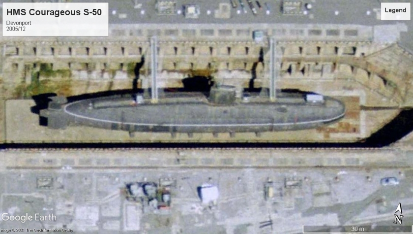 HMS Courageous S-50 Devonport 2005