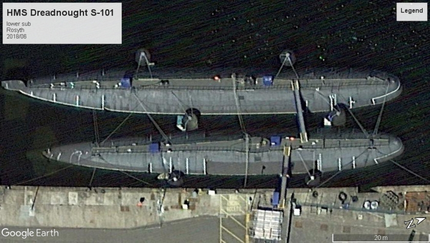 HMS Dreadnought S-101 Rosyth laid up 2018