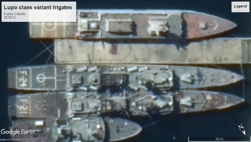 Lupo class Frigates Venezuela Puerto Cabello 2019