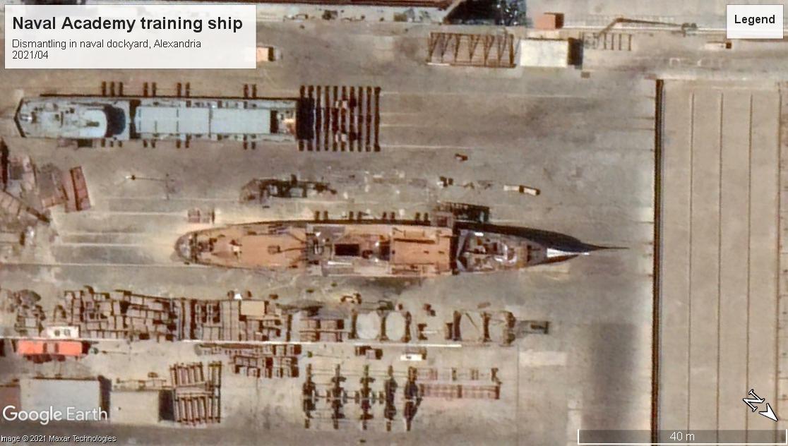 Naval academy training ship scrap Alexandria 2021-2