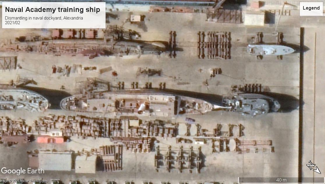 Naval academy training ship scrap Alexandria 2021