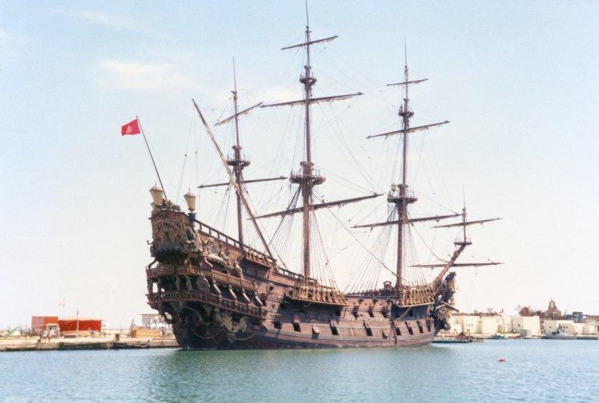 Neptune_galleon,_Port_El_Kantaoui,_Tunisia_(1985-September)