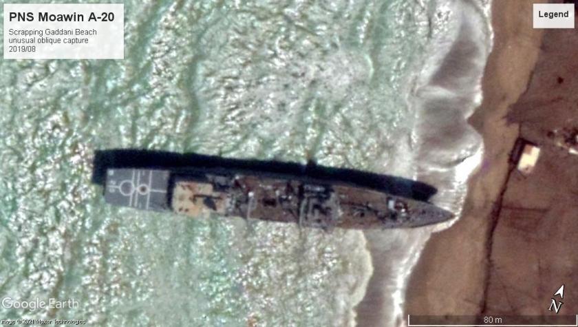 PNS Moawin A-20 Gaddani beach scrap 2019