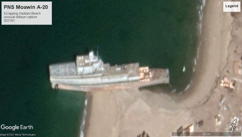 PNS Moawin A-20 Gaddani beach scrap 2021