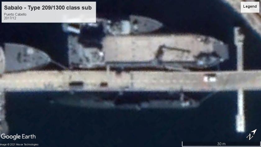 Sabalo Type 209-1300 sub Puerto Cabello 2017