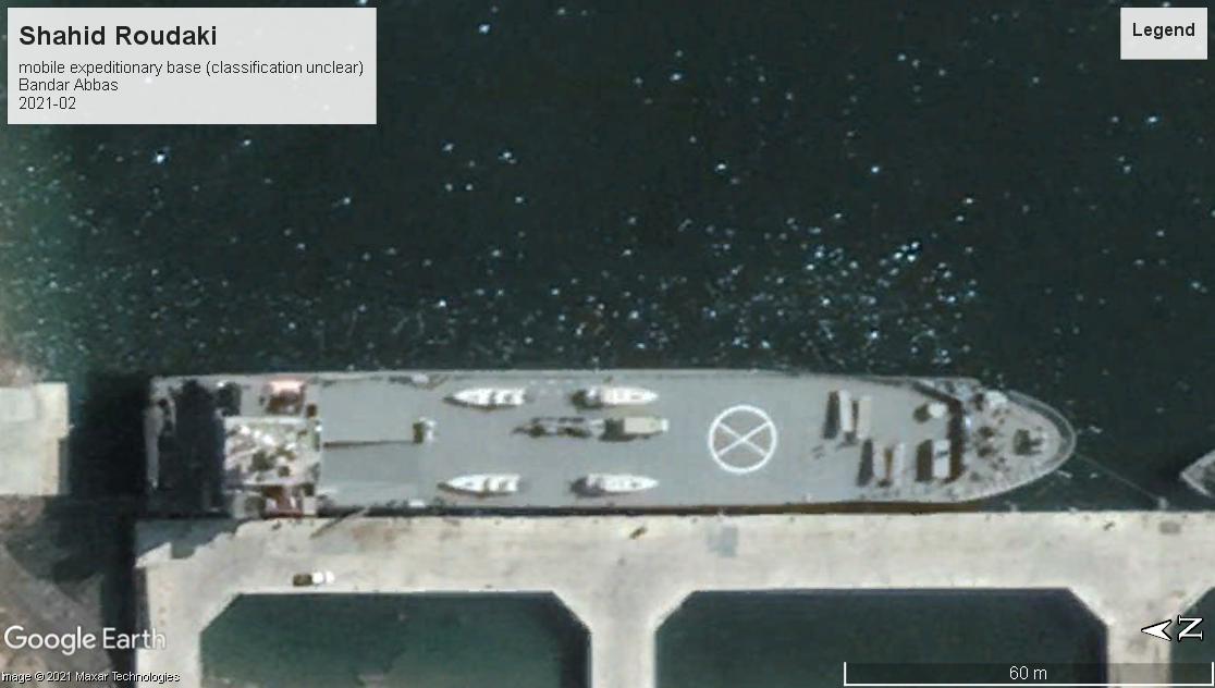 Shahid Roudaki base ship Bandar Abbas 2021