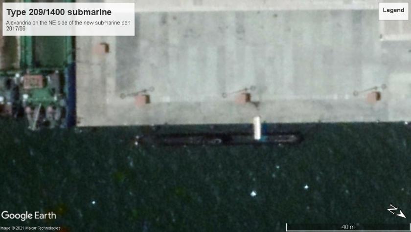 Type 209 Submarine Alexandria 2017