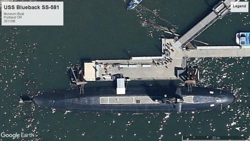 USS Blueback SS-581 museum boat Portland OR 2011