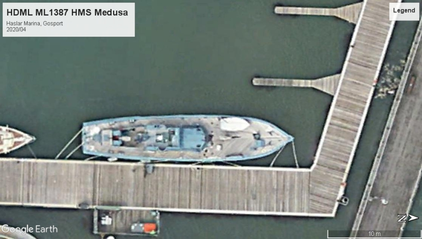 HDML ML1387 - HMS Medusa Gosport 2020