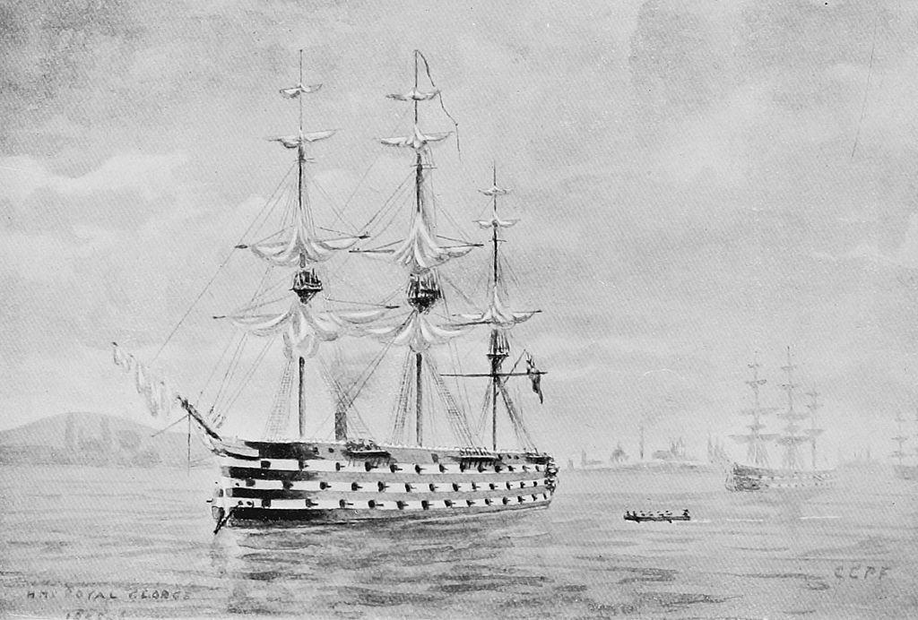 HMS_Royal_George_by_Charles_Fitzgerald