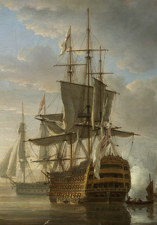 Pocock_Nelson's_flagships_at_anchorDetail