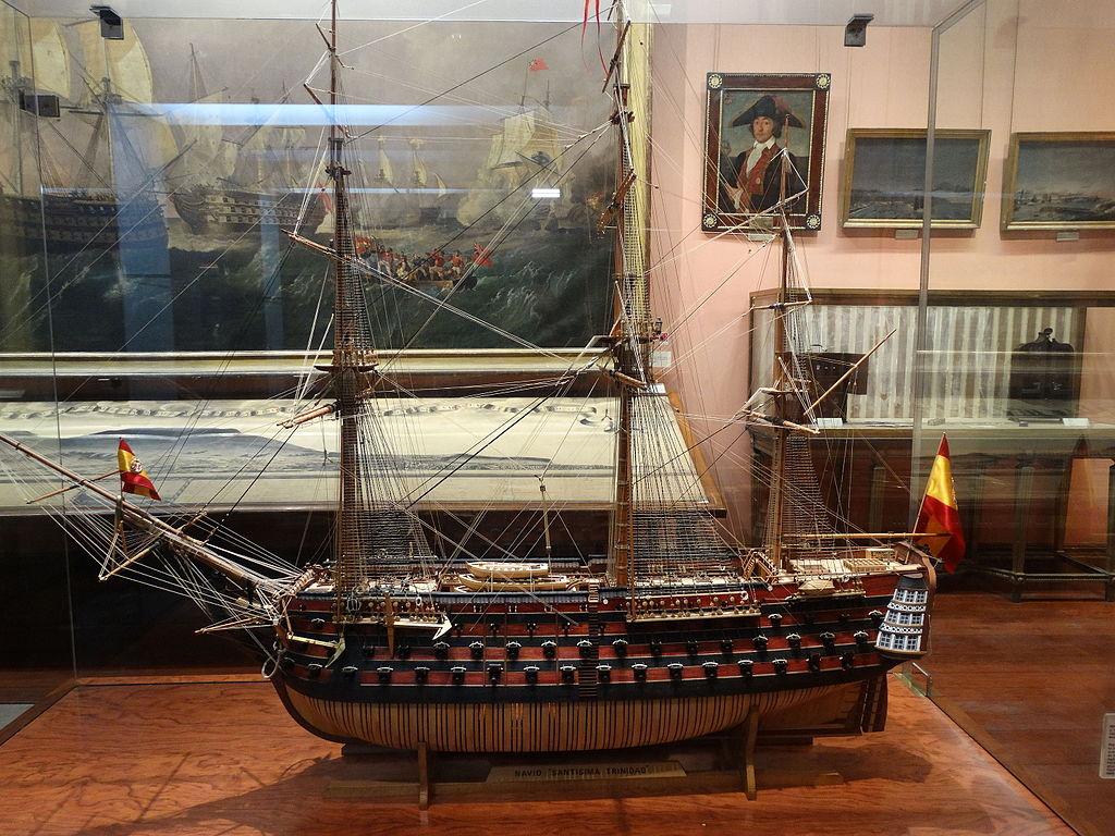Santisima Trinidade model at Museo_Naval_Madrid_Ni