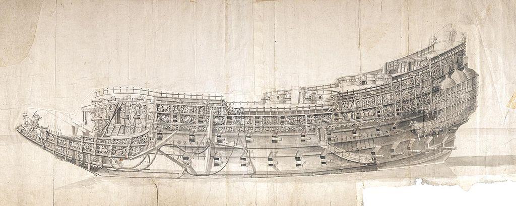 Sovereign of the Seas Morgan-Drawing