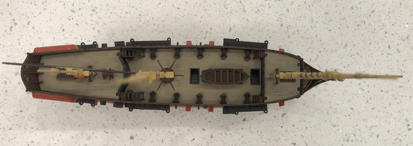 Black Pearl - Black Swan 1 to 150 scale overview