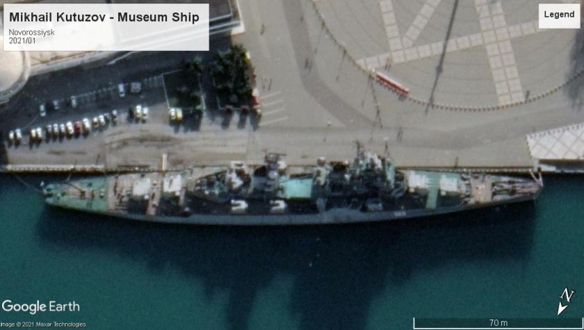 Mikhail Kutuzov Sverdlov class museum ship Novorossiysk 2021