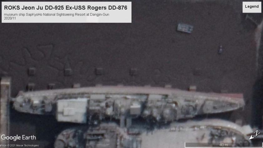 ROKS Jeon Ju DD-925 Ex-USS Rogers Gearing class Dangjin korea 2020