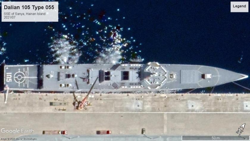 Dalian 105 Type 055 Sanya Hainan island 2021-07